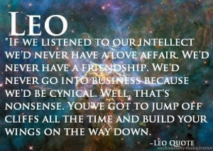 ... listened to our intellect wed never have a love affair astrology quote
