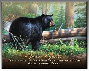 Black Bear Inspirational Wildlife Wall Plaque