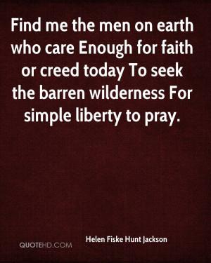 Helen Fiske Hunt Jackson Faith Quotes