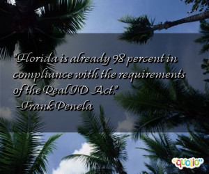 Florida is already 98 percent in compliance