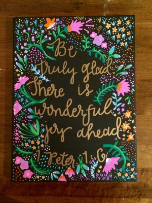 Canvas Quote Painting - Home Decor - Bible Quote -Wall Art