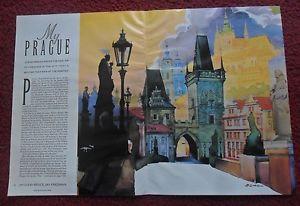 Magazine Article My Prague by Bruce Jay Friedman w Erich Sokol ART