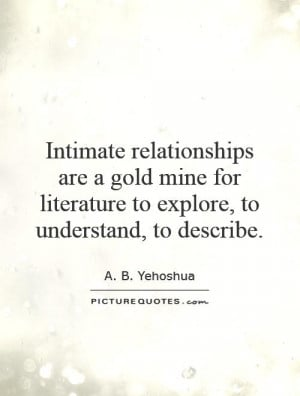 Literature Quotes A B Yehoshua Quotes