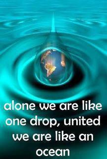 Motivational Quotes united we are like ocean…