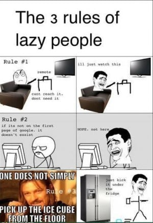The 3 rule of lazy people
