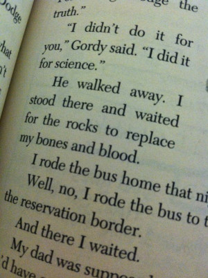 From The Absolutely True Diary of a Part-Time Indian by Sherman Alexie