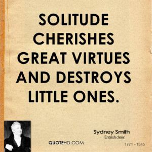 Inspirational Quotes About Little Solitude Funny