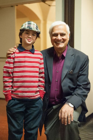 Backstage at UCLA Royce Hall meeting Dr. Ravi Zacharias, (1 of 2