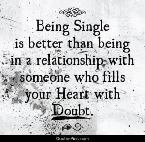 being single and doubt – smart people