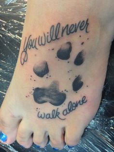 memorial tattoo to my dog ♥ #tattoo #pawprint #quotes