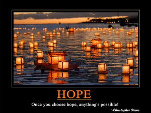 Christopher Reeve self motivational quote about HOPE