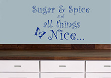 Sugar And Spice-Quotes Quotes Self Adhesive Stickers