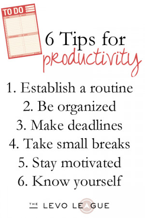 Find Your Motivation: Six Tips for Productivity