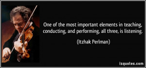 More Itzhak Perlman Quotes