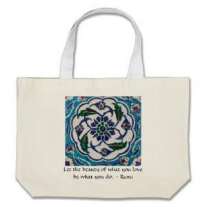 Rumi Quote - famous poet and sufi mystic Tote Bag Inspiring!. #sufi # ...