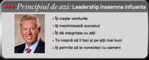 Principiul de azi: Leadership inseamna influenta
