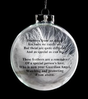 RE: Angel Feather Christmas Ornament