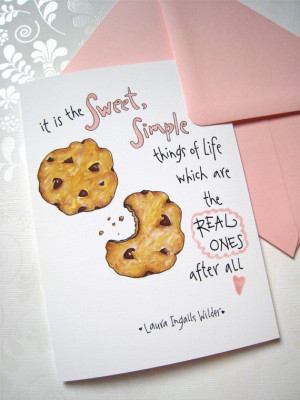Cookie Birthday Card - Chocolate Chip Birthday Card - Sweet Simple ...