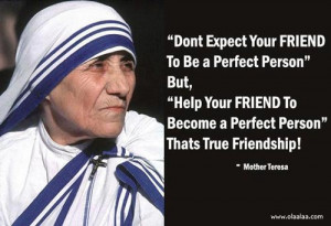 Friendship Thoughts by Mother Teresa