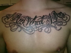 Chest tattoos For men Quotes
