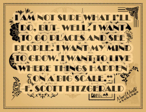 Scott Fitzgerald Quote Travel Poster: L'Wren Scott, F Scott ...