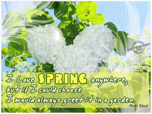 Spring Garden Pictures and Quotes