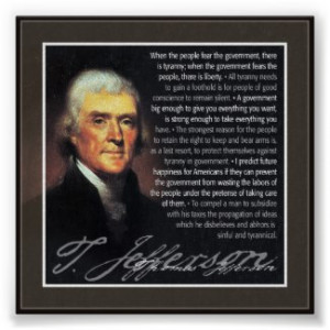 Thomas Jefferson – multiple quotes by My2Cents