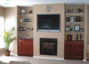 Fireplace with Built in Media Center