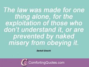 Bertolt Brecht Sayings