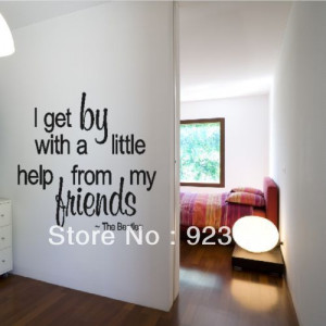 Friends The Beatles Quote Wall Stickers Decal DIY Home Decoration Wall