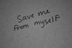 black and white, myself, quote, save me, text