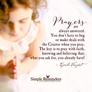 ... by iyanla vanzant prayers are always answered by iyanla vanzant