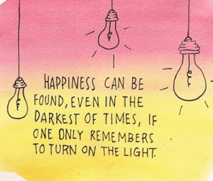 Turn On The Light - Positive Quote