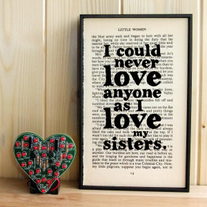 Love My Little Sister Quotes Little women gift for sisters