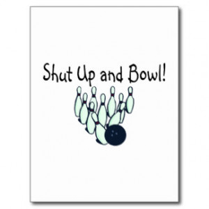 Funny Bowling Sayings Postcards