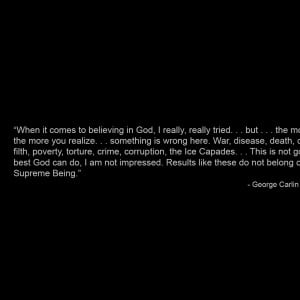 quotes atheism george carlin 1600x1200 wallpaper