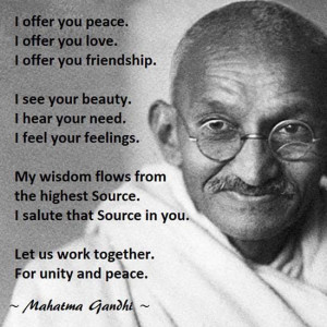 Mohandas Gandhi on Peace