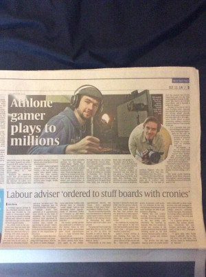Cant even get my own newspaper article without @ pewdiepie showing up ...