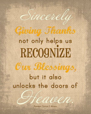 Quotes We Love} Sincerely Giving Thanks