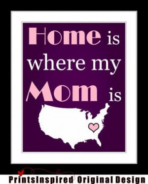 gift for mom, long distance - 8x10 custom art print, mothers day gift ...