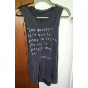 Brandy Melville Tops - HP 7/26Brandy Melville Ayn Rand quote ...
