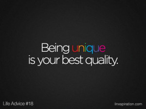 Being unique