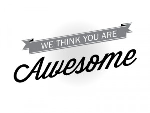 We think you are awesome
