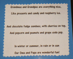 customized the poems for each grandparent and labeled the kid's ...