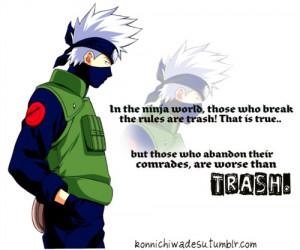 Kakashi Quotes Tumblr -uzumaki naruto-