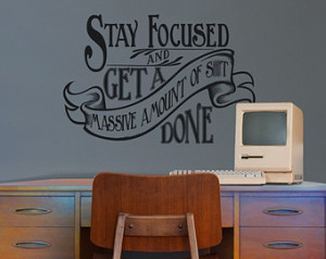 Motivational Quotes Wall Sticker For Office Art Misfits