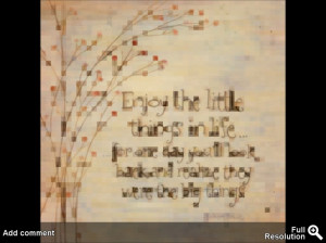 enjoy-the-little-things-in-your-life-quote-insoft-brown-paper-quotes ...