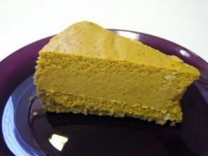 Pumpkin cheesecake. Mm.