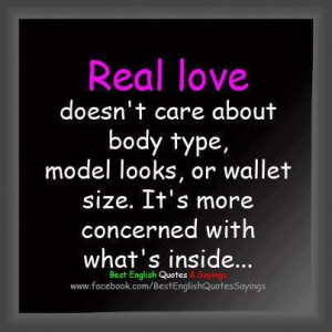 Real Love Doesn't Care About Body