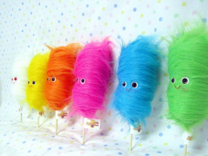 cotton candy pics: one little cotton candy plush
